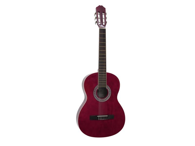 DIMAVERY AC-303 Klassik-Gitarre, Rot