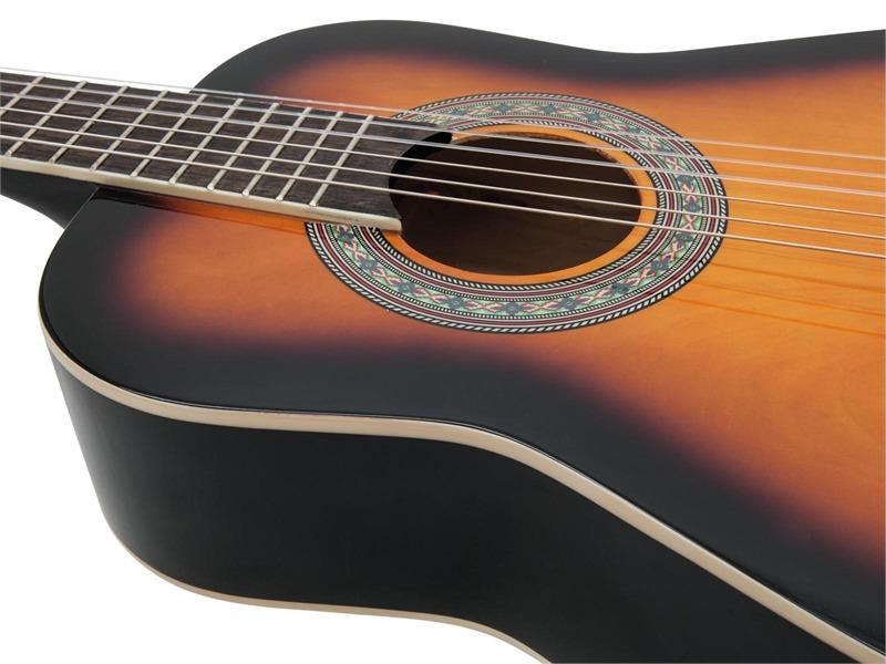 DIMAVERY AC-303 Klassik-Gitarre 1/2 sunburst