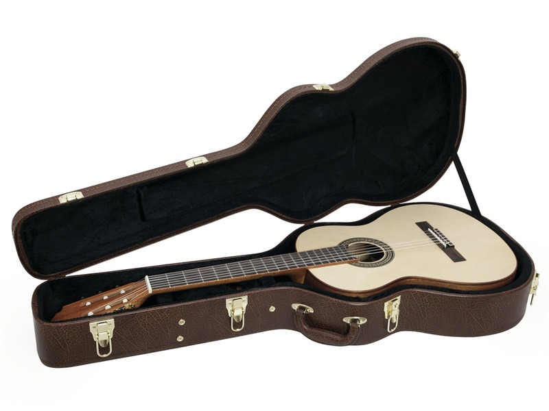 DIMAVERY Form-Case Klassik-Gitarre Brown