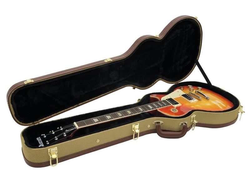 DIMAVERY Form-Case E-Gitarre LP, tweed