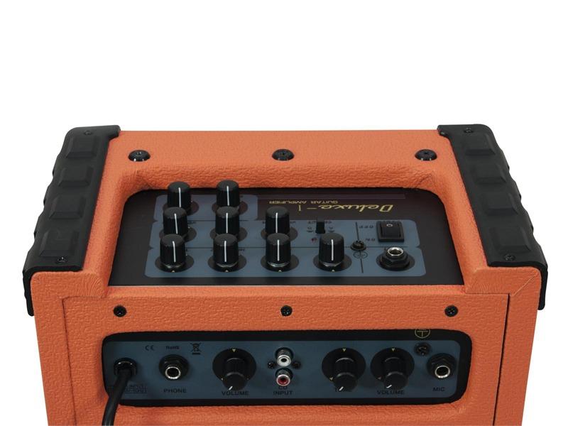 DIMAVERY Deluxe-1 E-Gitarren-Amp 10W orange