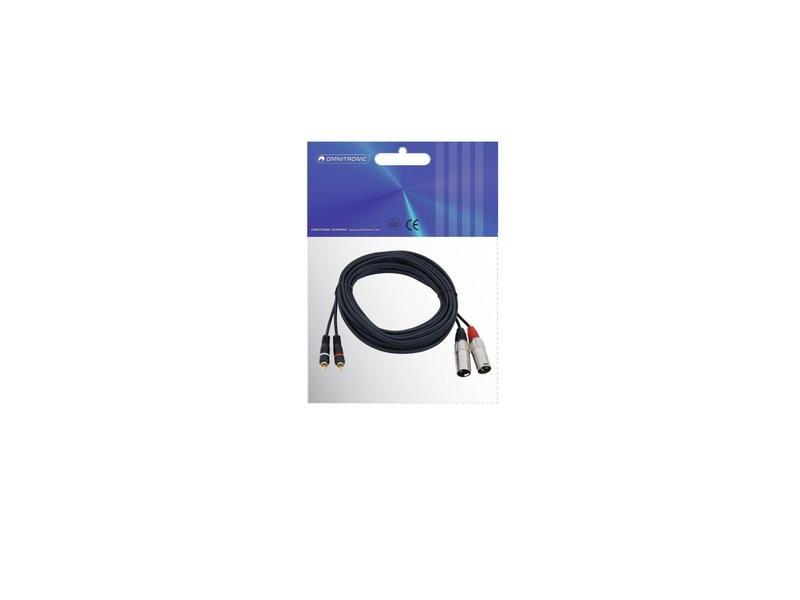 Kabel XC2-60 2xXLR male/2xCinch 6m