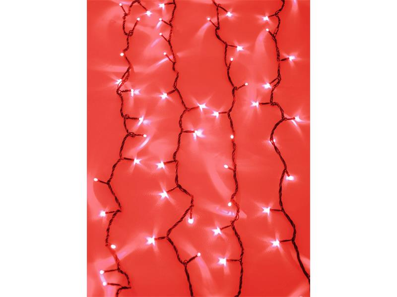 EUROLITE LED Waterfall Light 2400 rote LEDs, mit Controller, 10x3m