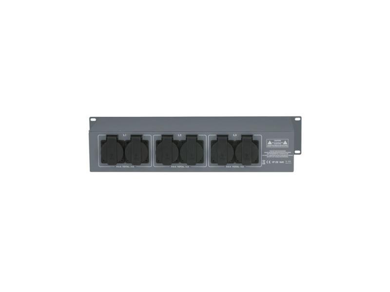SHOWTEC PSA-16A3S 3x MCB, Schutzkontakt out