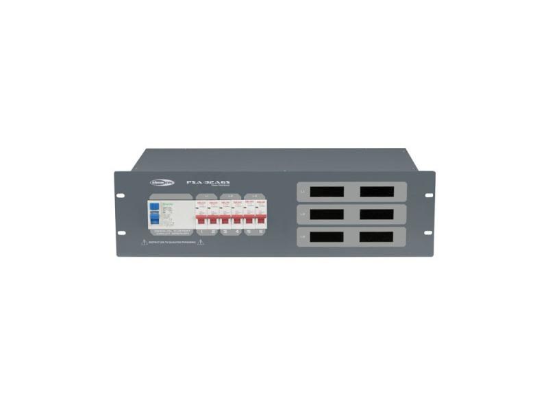 SHOWTEC PSA-32A6S 6x MCB, Schutzkontakt out