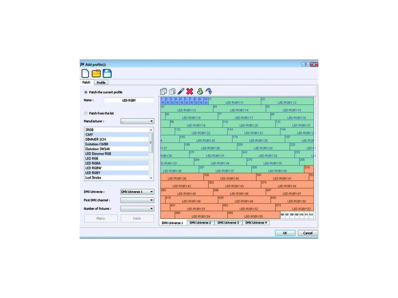 EUROLITE LED PC-Control 512 DMX Kanäle LED-Matrix Software