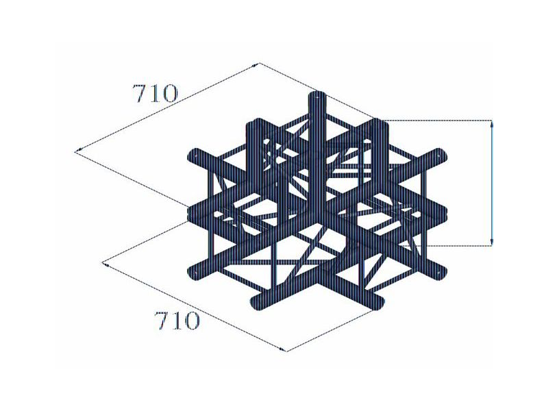 QUADLOCK 6082C-51 5-Wege-Kreuzstück
