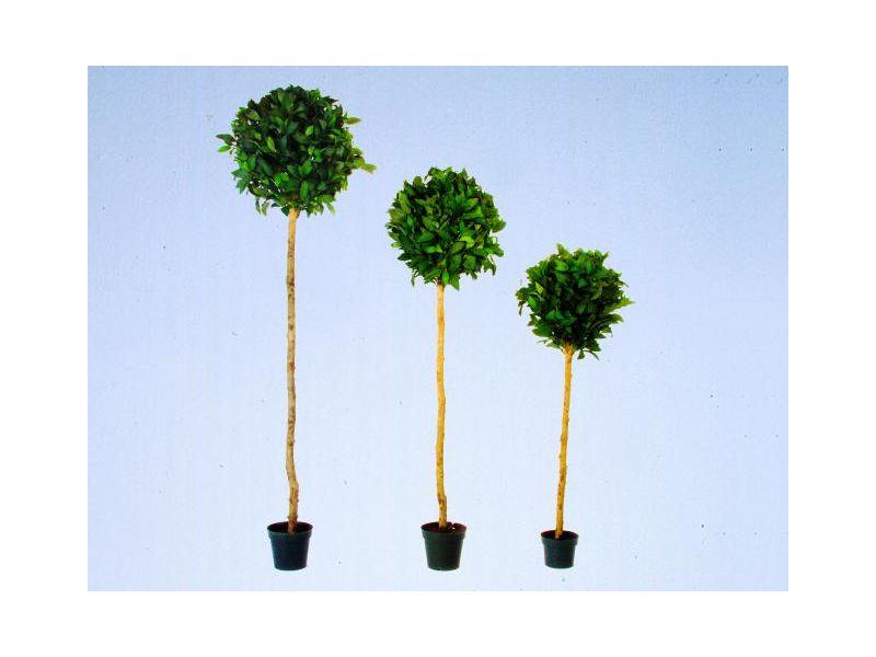 Lorbeerkugelbaum mit 660 Blättern120cm, Kunstpflanze