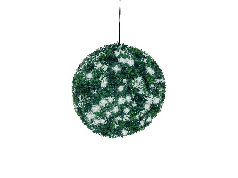 Europalms Buchsbaumkugel 200 LEDs weiß  ca 40cm, Kunstpflanze