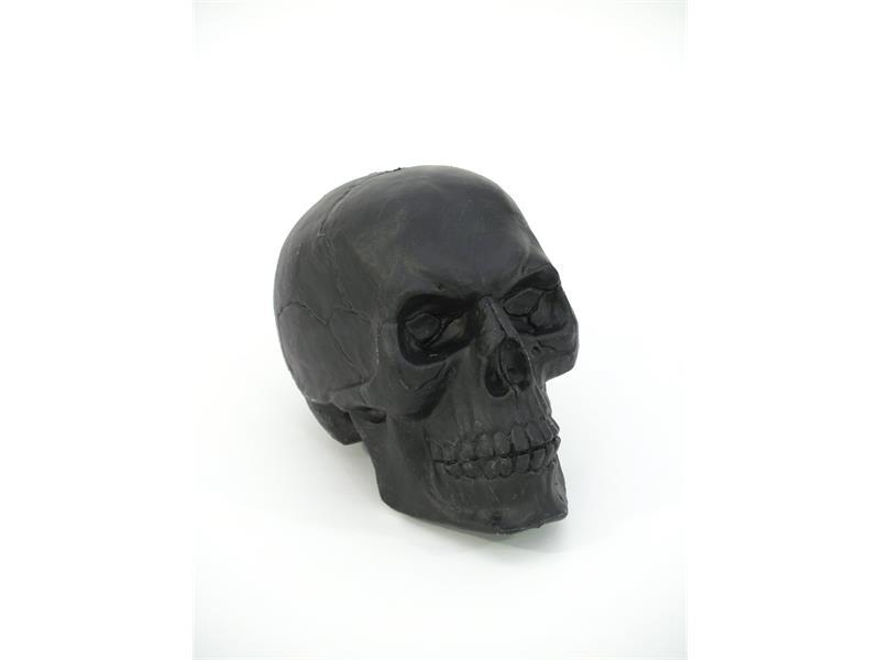 Halloween Totenkopf schwarz ca 16 x 20 cm