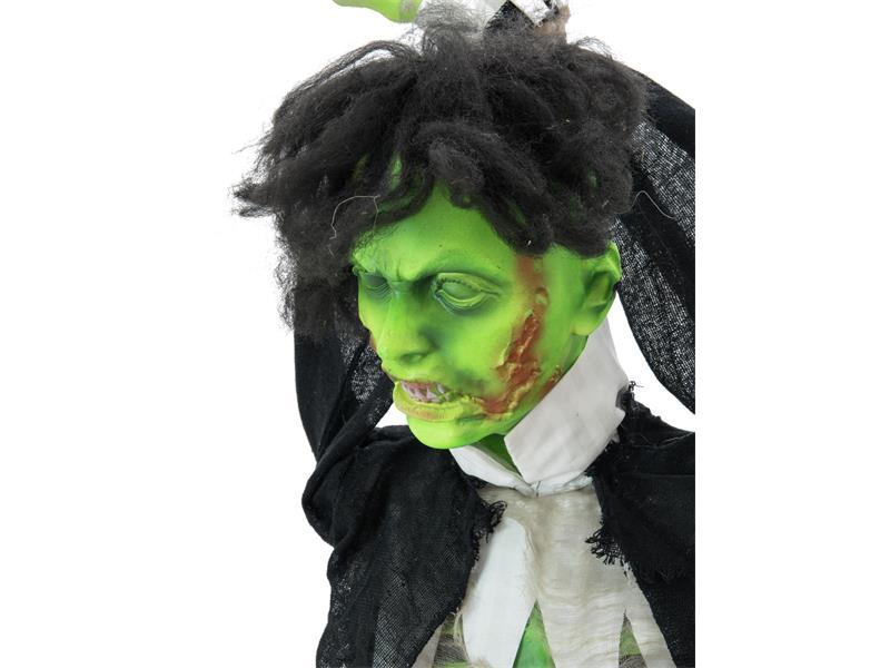 Europalms Halloween Hängender Zombie - mit Licht-, Sound- und Bewegungseffekten