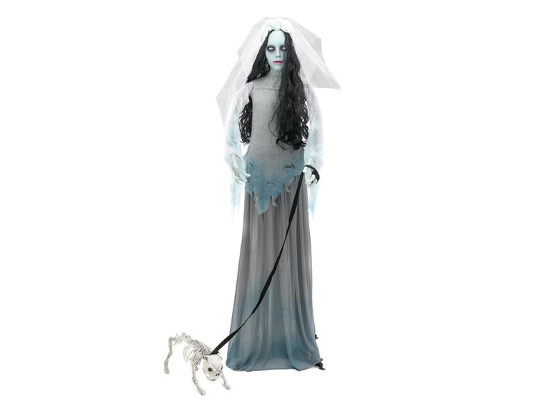 Europalms Halloween Figur Luzifinin - Standfigur mit Lichteffekten