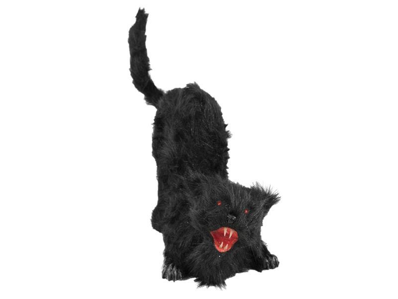 Europalms Halloween Katze mit Sound + LED + Bewegung