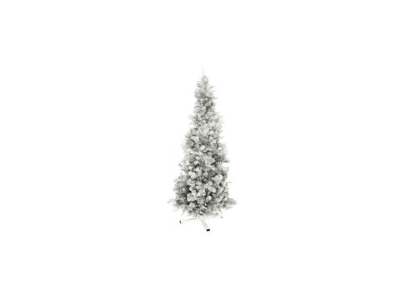 Weihnachtsbaum Kunstoff.Europalms Kunststoff Tannenbaum Futura Silber Metallic Weihnachtsbaum Christbaum 210cm