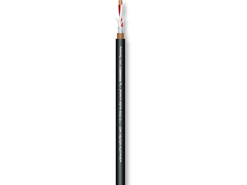 Sommer Cable BINARY 234 AES/EBU MKII DMX XLR 3Pol 10m mit Neutrik Steckern