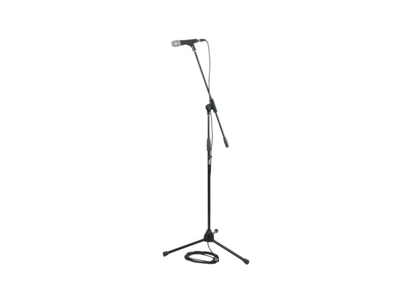 DAP MS-4 Professional Mikrofon Set inkl. Mikrofon,Ständer,Metallfuß,Klemme,Kabel,Tasche