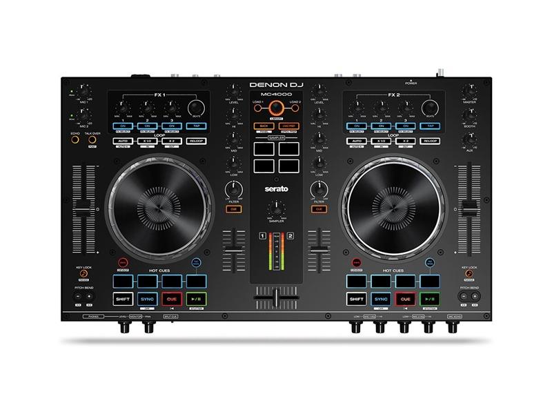 DENON DJ MC 4000 - Professioneller 2-Kanal DJ-Controller für Serato DJ