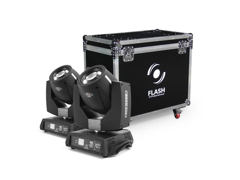FLASH 2x Moving Head 7R FL-233 BEAM + CASE