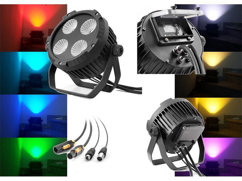 Flash Professional LED PAR 64 4x30W RGBW 4in1 IP65 mk2 - True1 Anschlusskabel