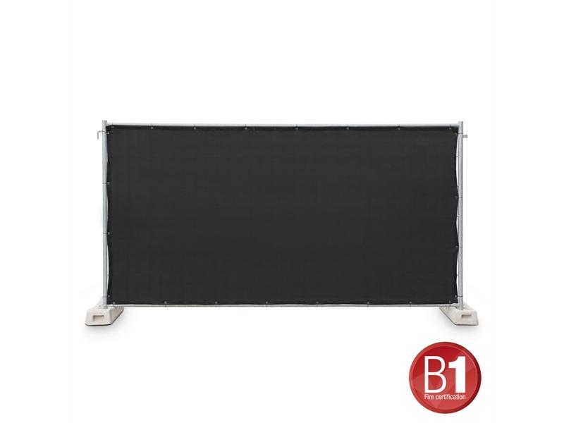 Gaze Typ 800 Bauzaunblende 1,76x3,41m geöst schwarz
