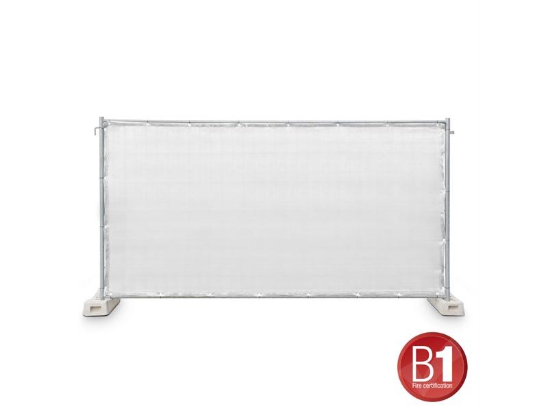 Gaze Typ 800 Bauzaunblende 1,76x3,41m geöst weiß