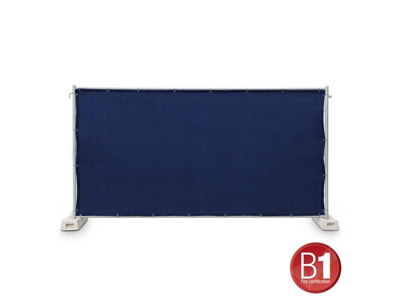 Gaze Typ 800 Bauzaunblende 1,76x3,41m geöst dunkelblau