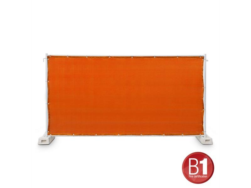 Gaze Typ 800 Bauzaunblende 1,76x3,41m geöst orange