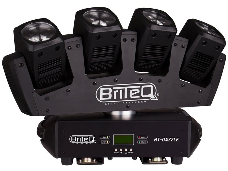 BriteQ - BT-Dazzle - 4 fach LED Moving Beam mit endloser Pan-Rotation