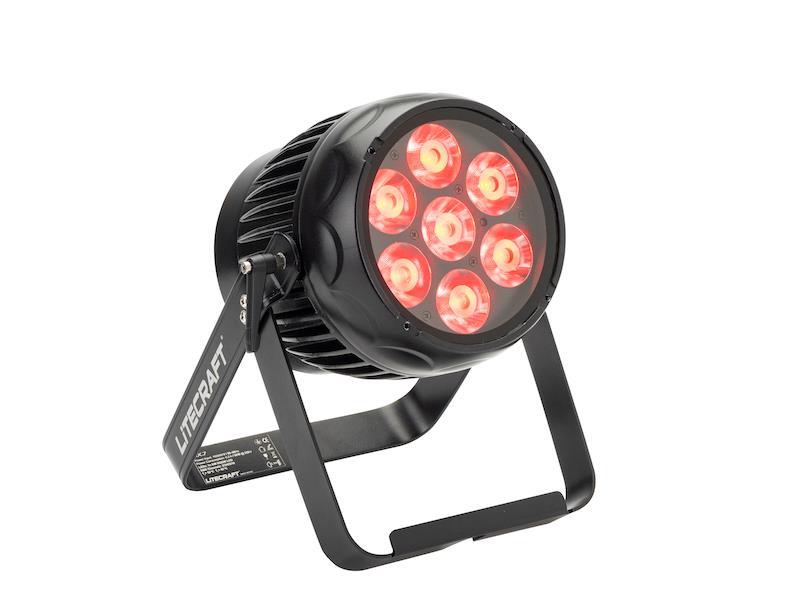 LITECRAFT BX.7, IP65, RGBW, 10°, Akku, DMX, LumenRadio CRMX, Frostfilter, schwarz