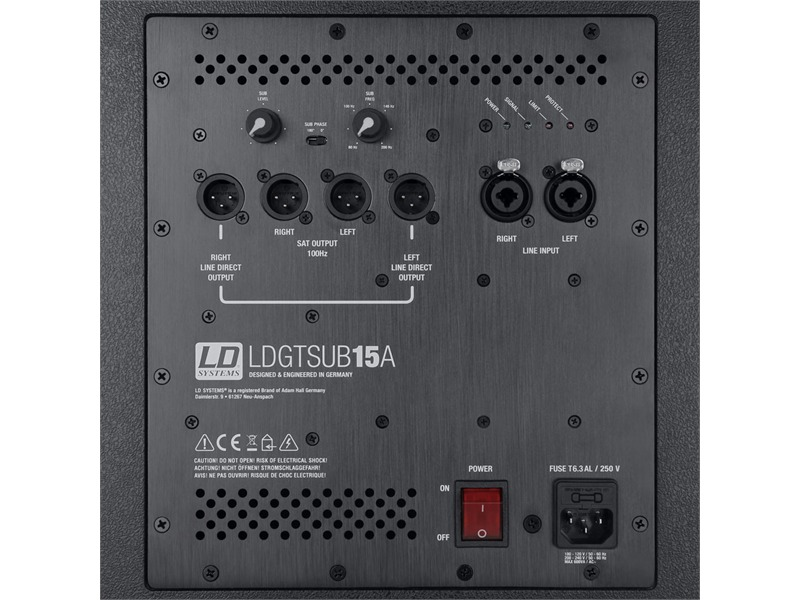 "LD Systems GT SUB 15 A - 15"" PA Subwoofer aktiv"