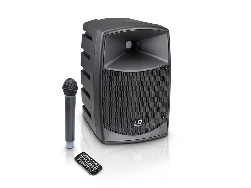 ld systems road buddy 6 akku bluetooth lautsprecher mit mixer und funkmikrofon. Black Bedroom Furniture Sets. Home Design Ideas