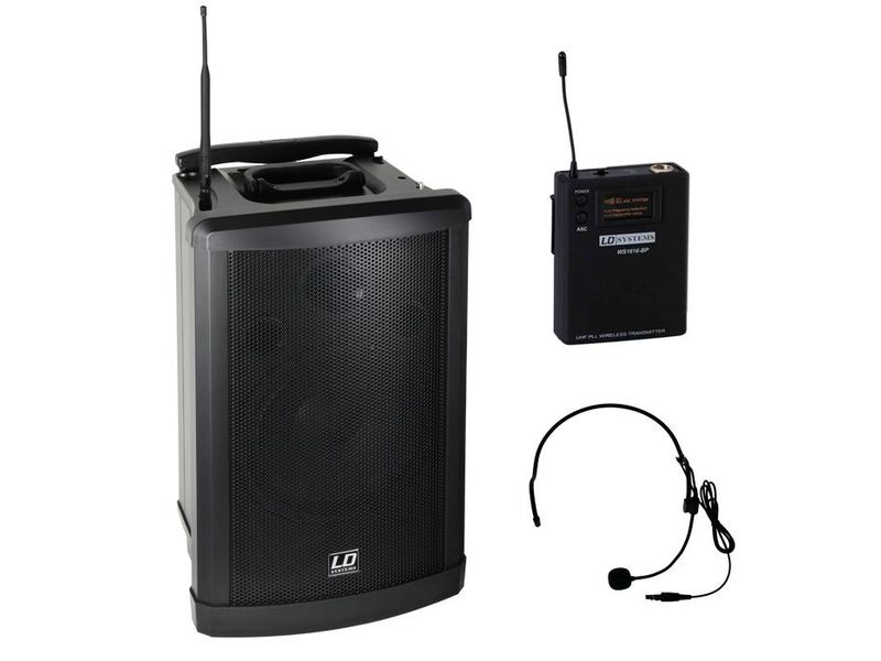 ld systems roadman 102 mobiler pa lautsprecher mit headset. Black Bedroom Furniture Sets. Home Design Ideas