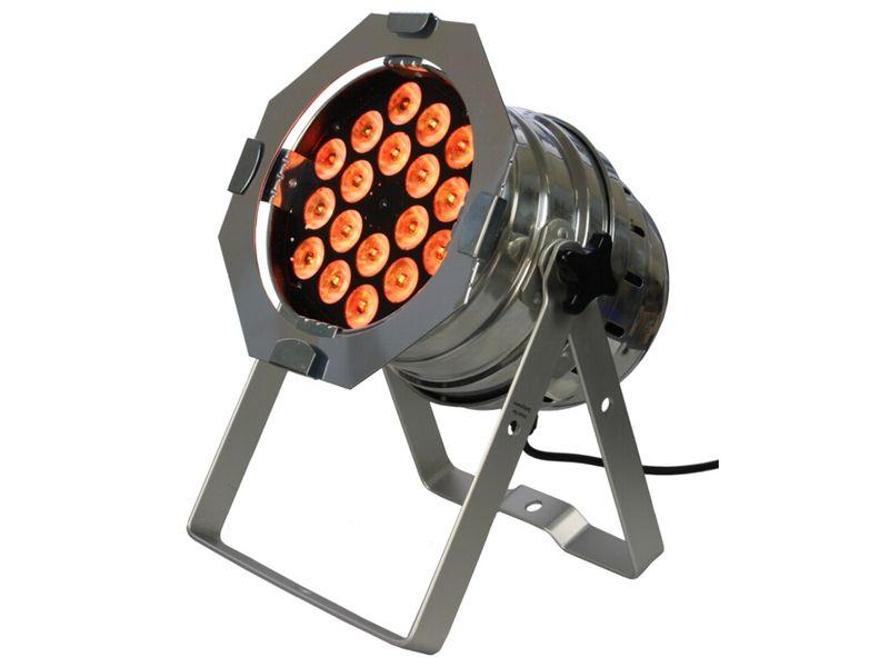LED Par 64 Short 18 x 3-in-1 LED, Silber