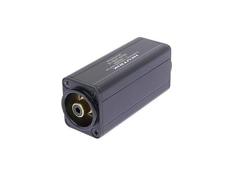 Neutrik Minitrafo, Symetrie Adapter, 3 pol XLR male - Cinch, schwarz