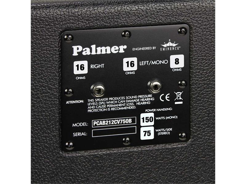 "Palmer MI Gitarrenbox 2 x 12"" mit Eminence CV-75 Model 8/16 Ohm Open Back"