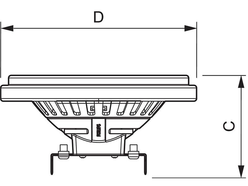 Philips MASTER LEDspotLV AR111 D 10-50W 2700K 24°