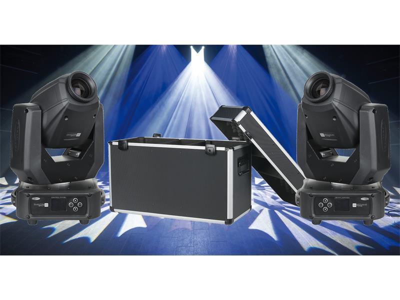 2x Showtec Phantom 65 Moving Head Spot 65W LED inkl. Case