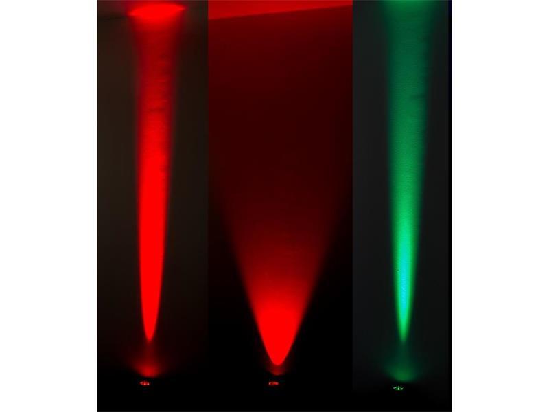 SHOWTEC Eventspot 60 Q7 Black - RGBWAUV-Cyan LED, WDMX, IP54