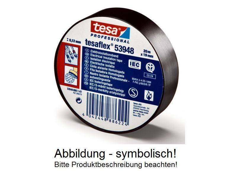 tesaflex® 53948 PVC Elektroisolierband VDE/IEC Zumbelband rot 19mm 25mtr