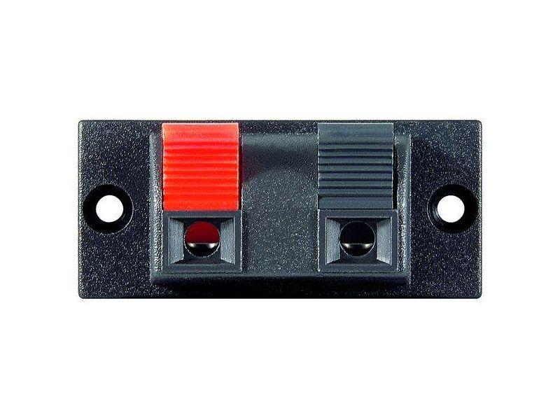 Lautsprecher-Terminal, 2 pol.Klemmleiste, rot/schwarz