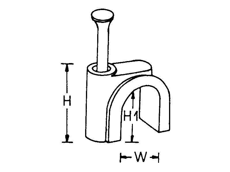 Kabelschelle, weiß, max. Kabeldurchmesser : 8,0 mm