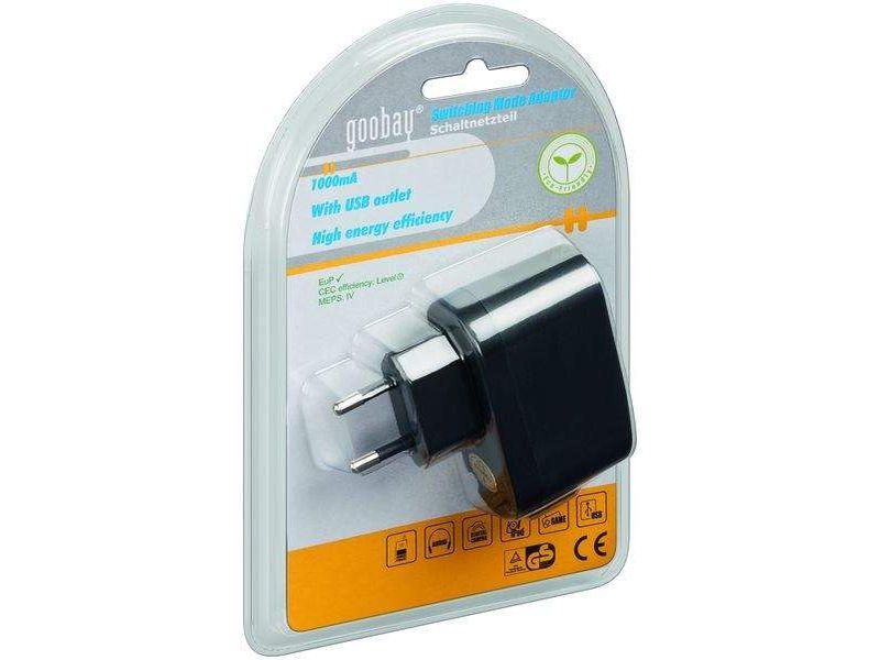 USB Netzteil, mit 1000 mA, standard USB Handy Ladegerät