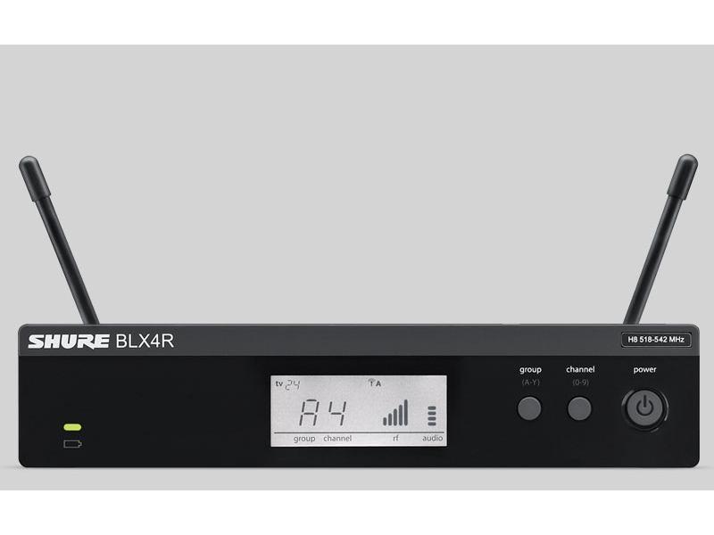 """Shure BLX4RE T11 19"""" Empfänger für PG, SM und Beta Funkstrecken 863 bis 865 Mhz ISM"""