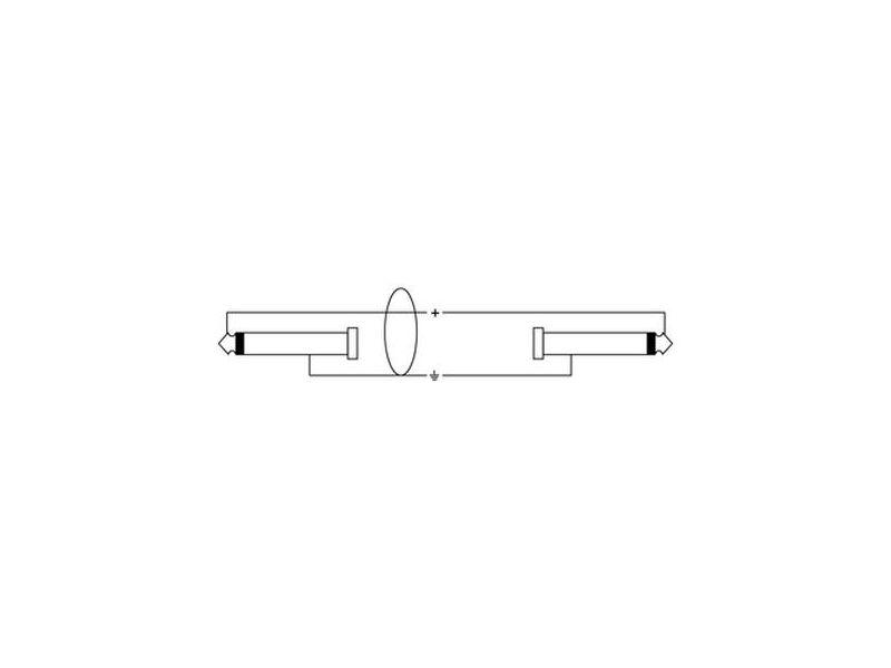 Cordial Road Line® 6,3mm Mono Klinke - Winkelklinke, 6m