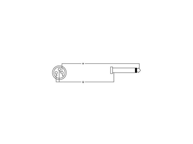 Cordial Road Line® XLR Female - 6,3mm Mono Klinke, 10,0m
