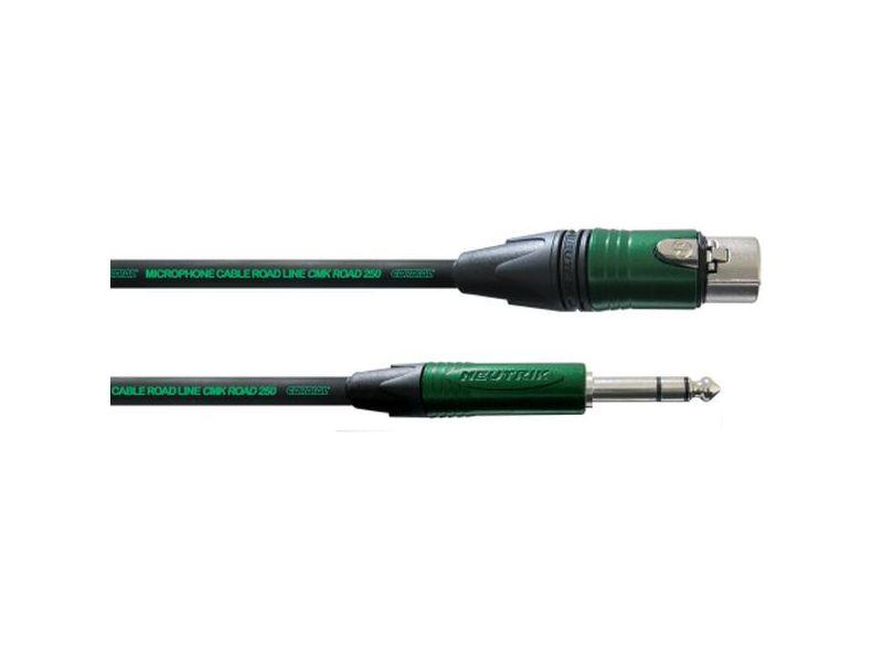 Cordial Road Line® XLR Female - 6,3mm Stereo Klinke, 10m