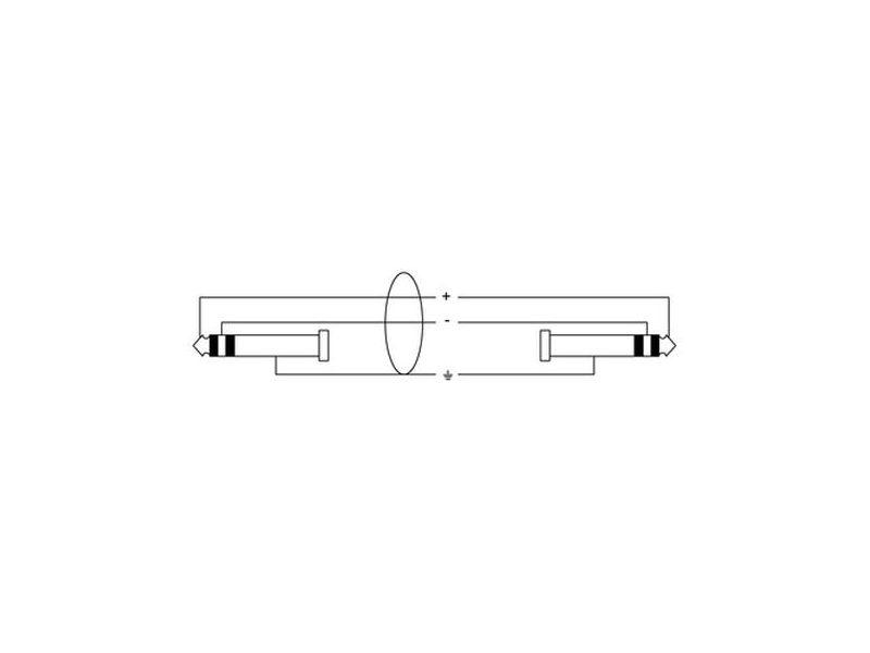 Cordial Road Line® 6,3mm Stereo Klinke - Stereo Klinke, 5,0m