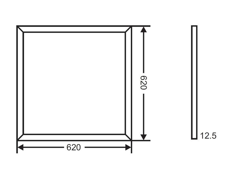 kapego wand deckenleuchte led panel rgb. Black Bedroom Furniture Sets. Home Design Ideas