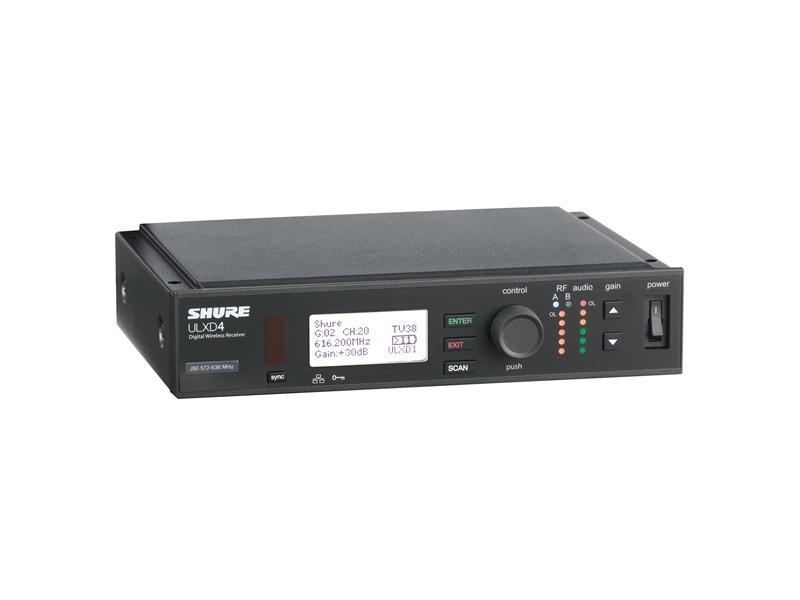 SHURE ULXD4E Single Empfänger digital H51 534 Mhz bis 598 Mhz