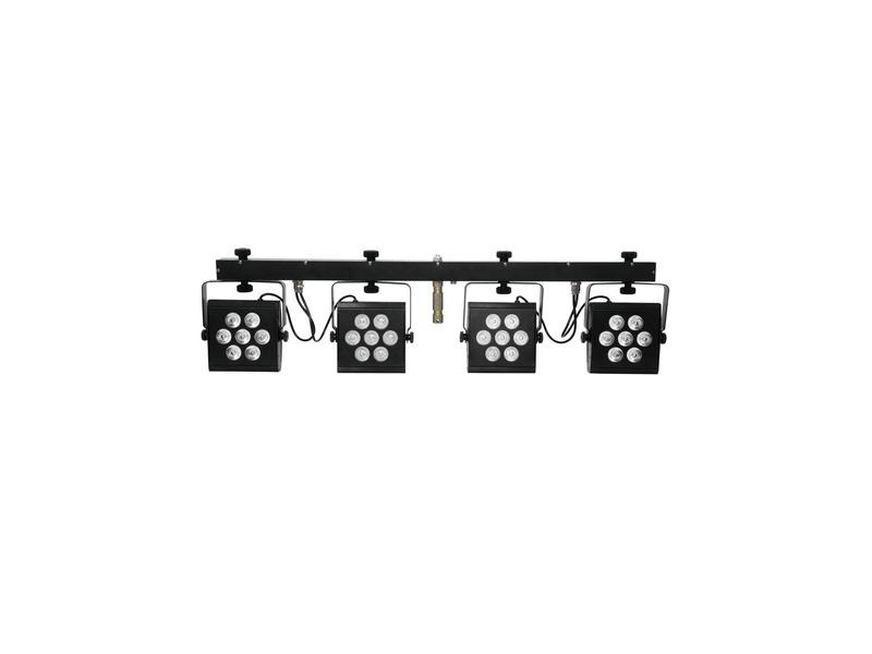 eurolite led kls 2500 kompakt lichtset 4 x 7 x 10w rgbwa 280w led. Black Bedroom Furniture Sets. Home Design Ideas
